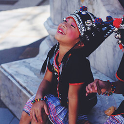 happy girl folk thailand smile smiling real UGC travel content photography kids